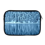 Snowy Forest Reflection Lake Apple MacBook Pro 17  Zipper Case Front