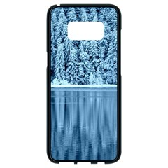 Snowy Forest Reflection Lake Samsung Galaxy S8 Black Seamless Case by Alisyart