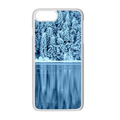 Snowy Forest Reflection Lake Apple Iphone 8 Plus Seamless Case (white) by Alisyart