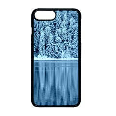 Snowy Forest Reflection Lake Apple Iphone 8 Plus Seamless Case (black) by Alisyart