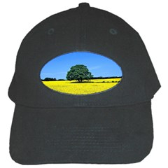 Tree In Field Black Cap