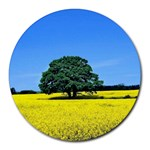 Tree In Field Round Mousepads Front