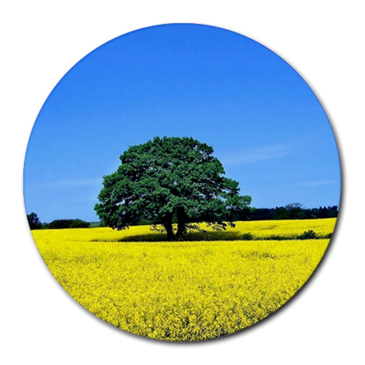 Tree In Field Round Mousepads