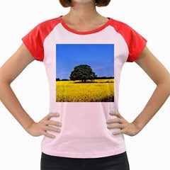 Tree In Field Women s Cap Sleeve T Shirt