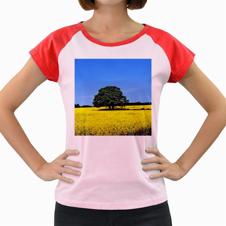 Tree In Field Women s Cap Sleeve T-Shirt