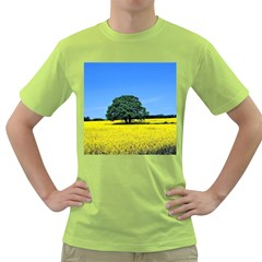 Tree In Field Green T Shirt