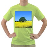 Tree In Field Green T-Shirt Front