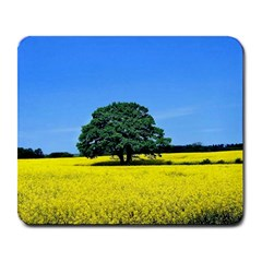 Tree In Field Large Mousepads