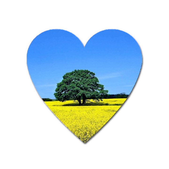 Tree In Field Heart Magnet