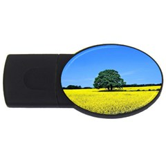 Tree In Field Usb Flash Drive Oval (2 Gb)