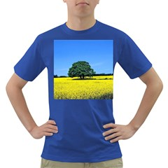 Tree In Field Dark T Shirt