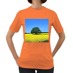 Tree In Field Women s Dark T Shirt