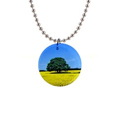 Tree In Field Button Necklaces