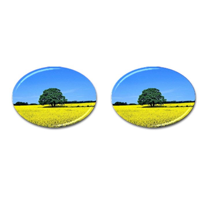 Tree In Field Cufflinks (Oval)