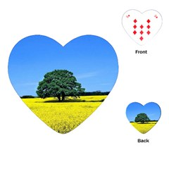 Tree In Field Playing Cards (heart)
