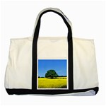 Tree In Field Two Tone Tote Bag Front