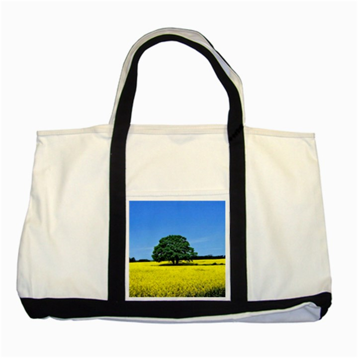 Tree In Field Two Tone Tote Bag