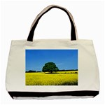 Tree In Field Basic Tote Bag (Two Sides) Back
