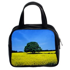 Tree In Field Classic Handbag (two Sides) by Alisyart