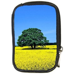 Tree In Field Compact Camera Leather Case