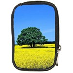 Tree In Field Compact Camera Leather Case Front