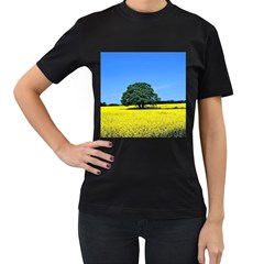 Tree In Field Women s T Shirt (black)