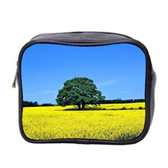 Tree In Field Mini Toiletries Bag (two Sides)