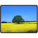 Tree In Field Fleece Blanket (Large)  80 x60  Blanket Front