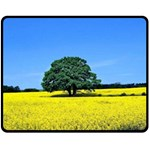 Tree In Field Fleece Blanket (Medium)  60 x50 Blanket Front