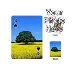Tree In Field Playing Cards 54 (Mini) Front - Spade4
