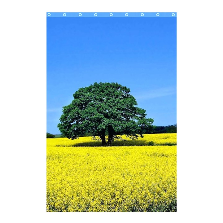 Tree In Field Shower Curtain 48  x 72  (Small)