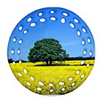 Tree In Field Ornament (Round Filigree) Front