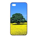 Tree In Field Apple iPhone 4/4s Seamless Case (Black) Front