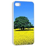 Tree In Field Apple iPhone 4/4s Seamless Case (White) Front