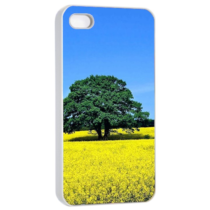 Tree In Field Apple iPhone 4/4s Seamless Case (White)