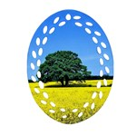 Tree In Field Ornament (Oval Filigree) Front