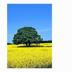 Tree In Field Small Garden Flag (two Sides)