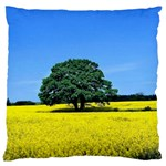 Tree In Field Large Cushion Case (One Side) Front