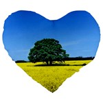 Tree In Field Large 19  Premium Heart Shape Cushions Front