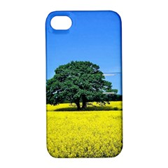 Tree In Field Apple Iphone 4/4s Hardshell Case With Stand