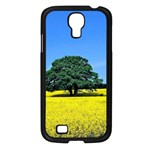 Tree In Field Samsung Galaxy S4 I9500/ I9505 Case (Black) Front