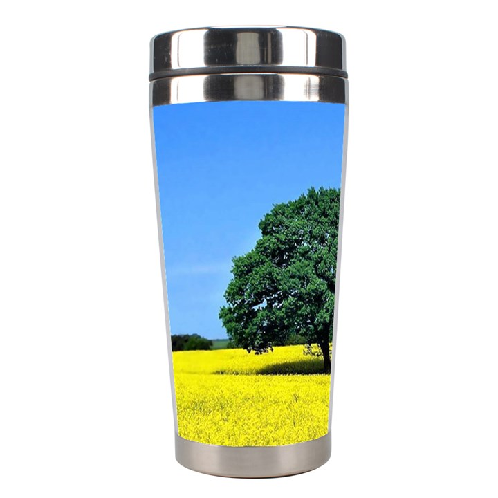 Tree In Field Stainless Steel Travel Tumblers
