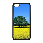 Tree In Field Apple iPhone 5C Seamless Case (Black) Front