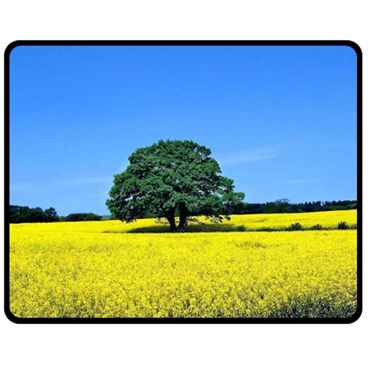 Tree In Field Double Sided Fleece Blanket (Medium)
