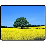 Tree In Field Double Sided Fleece Blanket (Medium)  58.8 x47.4 Blanket Back