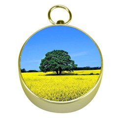 Tree In Field Gold Compasses