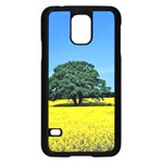 Tree In Field Samsung Galaxy S5 Case (Black) Front