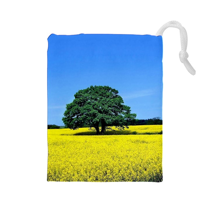Tree In Field Drawstring Pouch (Large)