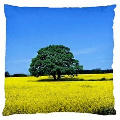 Tree In Field Standard Flano Cushion Case (two Sides)