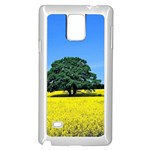 Tree In Field Samsung Galaxy Note 4 Case (White) Front